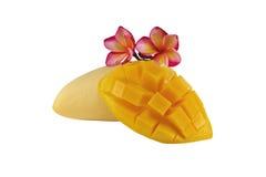 Mango isolated. Yellow mango isolated on a white background Stock Photos