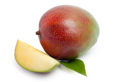 Mango isolated on white. Background stock images