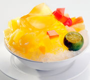 Mango Jerry mixed with ice and lemon dessert Royalty Free Stock Image