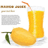 Mango juice Stock Images