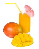 Mango and juice Royalty Free Stock Photo