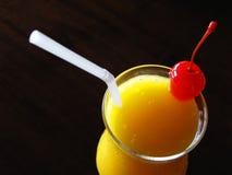 Mango juice beverage Stock Photo