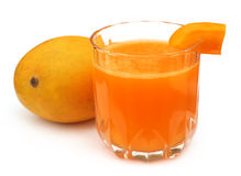 Mango juice with fresh fruit Stock Photo