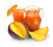 Mango juice and fruit Royalty Free Stock Photography