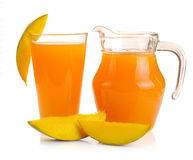 Mango juice and fruit Stock Image