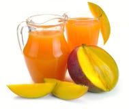 Mango juice and fruit Stock Photo