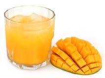 Mango juice with fruit Royalty Free Stock Images
