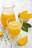 Mango juice Stock Images