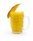 Mango Juice Isolated on White Stock Image