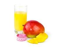 Mango juice, mango fruit with centimeter Stock Photography