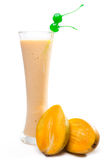 Mango juice with milk Royalty Free Stock Images
