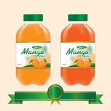 Mango Juice Bottle. Mango Juice presentation template for inspiring your advertising media design Royalty Free Illustration