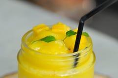 Mango juice or mango smoothies royalty free stock photography
