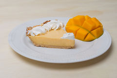 Mango Key Lime Pie Royalty Free Stock Photography