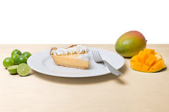 Mango Key Lime Pie Royalty Free Stock Images