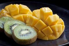 Mango and Kiwi Fruit Stock Photos