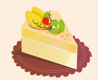 Mango kiwifruit cake. Illustration -2 Stock Image