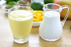 Mango lassi smoothie drink. Royalty Free Stock Image