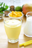 Mango lassi smoothie drink. Stock Image