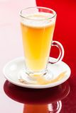 Mango lemon hot drink Royalty Free Stock Images