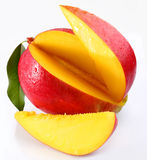 Mango with lobules. On a white background Royalty Free Stock Images