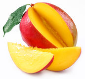 Mango with lobules Royalty Free Stock Image