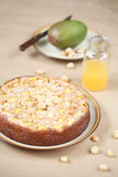 Mango Macadamia Cake Royalty Free Stock Photo