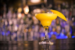 Mango Margarita. On the bar royalty free stock image