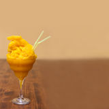 Mango margarita cocktail. Frozen  daiquiri with Royalty Free Stock Photo