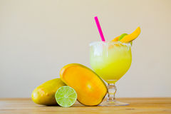 Mango Margarita with Lime Royalty Free Stock Image