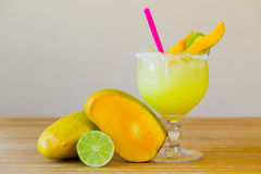 Mango Margarita with Lime Stock Images