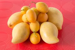 Mango and marian plum Stock Image