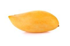 Mango maturo isolato su fondo bianco Fotografia Stock Libera da Diritti