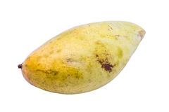 Mango maturo su fondo bianco Fotografie Stock Libere da Diritti
