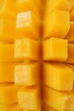 Mango maturo tagliato cubo Immagini Stock Libere da Diritti