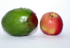 Mango met Apple stock afbeeldingen