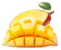 Mango met plakken Stock Foto