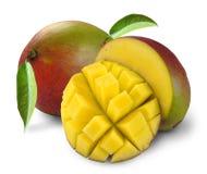 Mango met sectie Stock Afbeelding