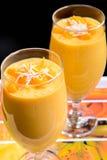 Mango-Milchshake Stockfoto