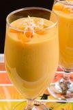 Mango-Milchshake Lizenzfreies Stockfoto