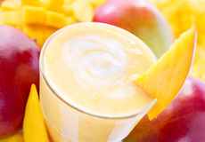 Mango milk shake Royalty Free Stock Photo