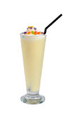 Mango milkshake drink. On white background Stock Image