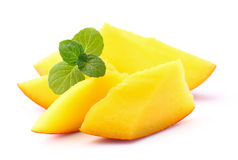 Mango with mint Royalty Free Stock Photos