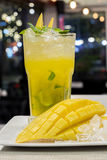 Mango mojito cocktail for nightlife Royalty Free Stock Image