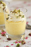 Mango mousse Stock Images