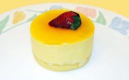 Mango mousse cake. A gourmet dessert of mango mousse cake Stock Image