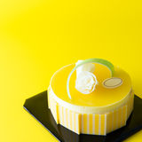 Mango mousse cake Royalty Free Stock Photo