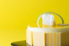 Mango mousse cake Royalty Free Stock Photography