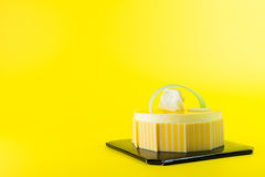 Mango mousse cake Stock Photos