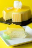 Mango mousse cake Stock Image